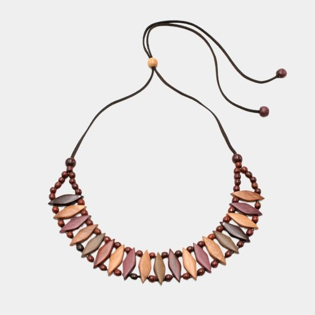 Collier en bois multicolore - Christy